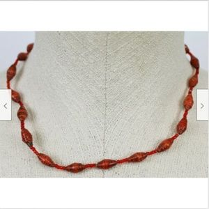Red Beaded Necklace Accessories Fashion Jewelry